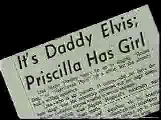 Elvis Aaron Presley and Lisa Marie Presley wallpaper called Newspaper