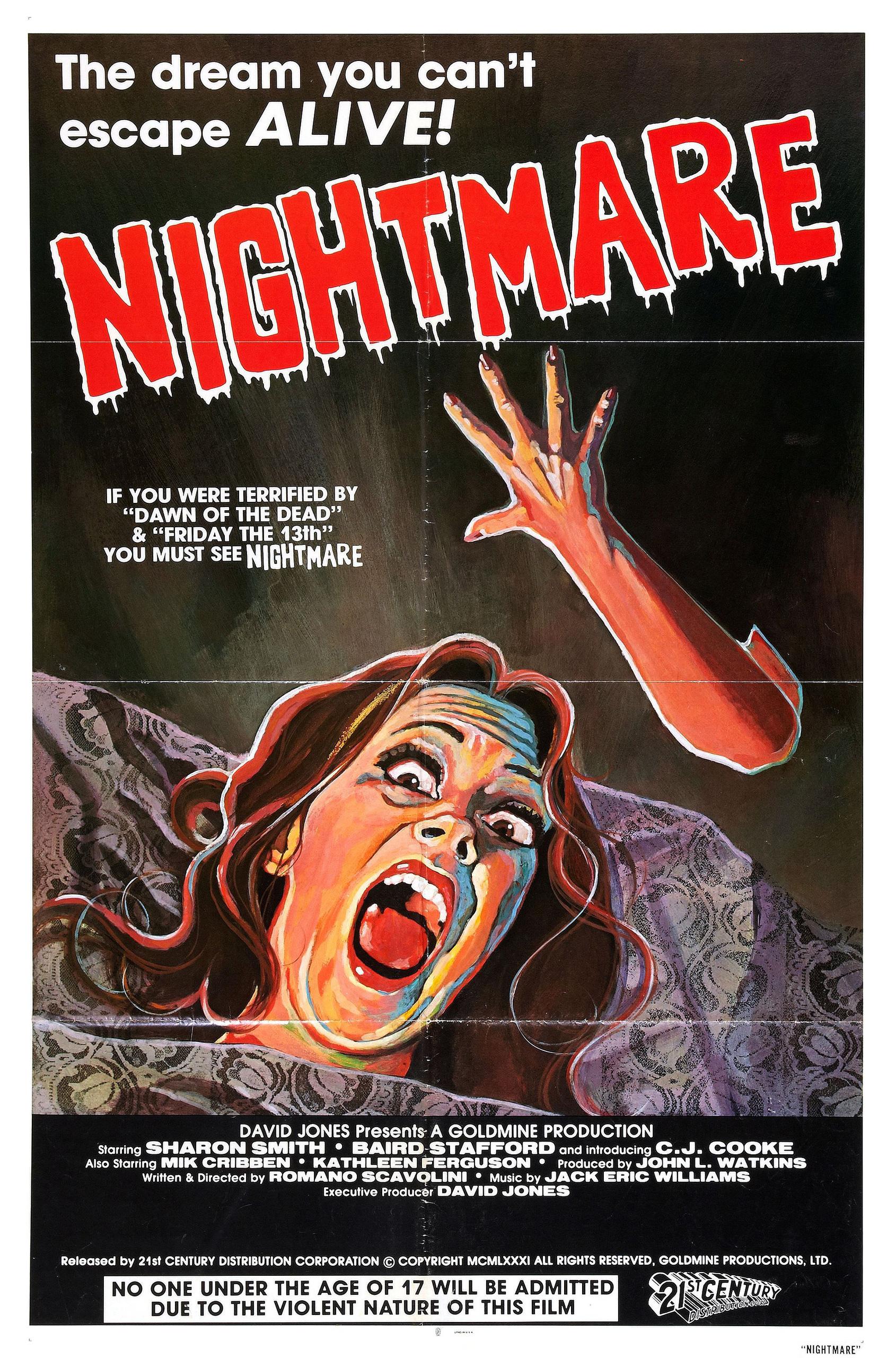 Nightmare Movie Posters From Movie Poster Shop  Horror Movie Nightmares