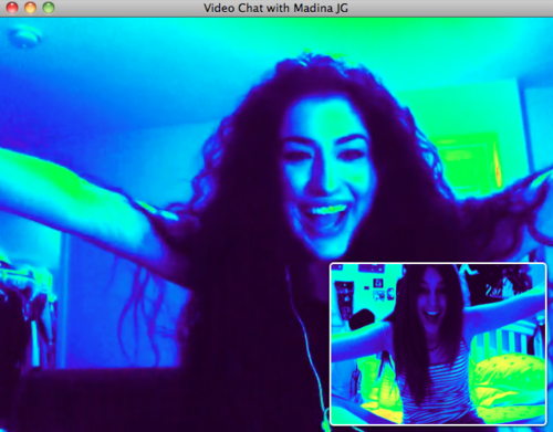Paris Jackson on Video Chat