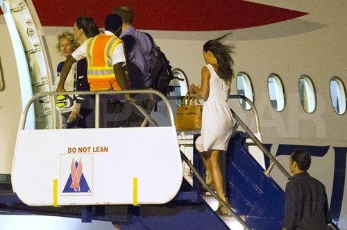 Pippa leaving Mustique