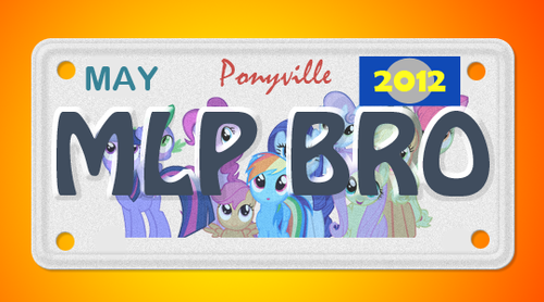Pony Photoshop Project: License Plate