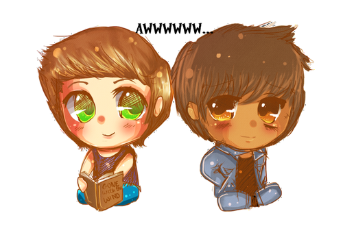 Ponyboy and Johnny Chibi