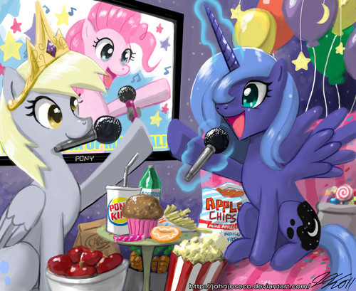 Princess Luna and Derpy Hoves