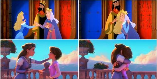 Rapunzel & Aurora. <3