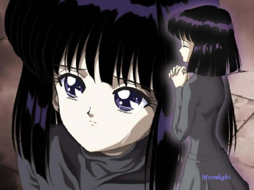 Sailor Saturn Hintergrund entitled Sad Hotaru