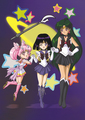Sailor Saturn, Pluto & Mini Moon