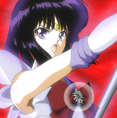 Sailor Saturn wallpaper containing animê entitled Sailor Saturn
