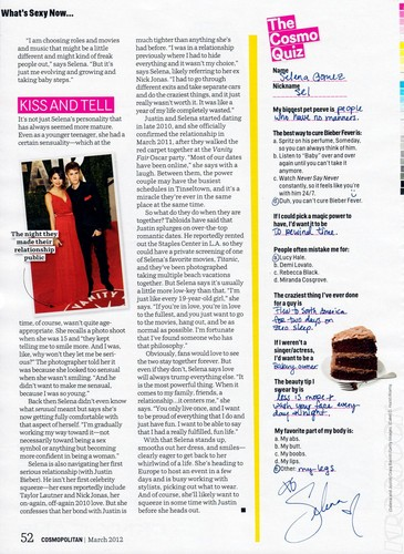 Selena - Magazine Scans - Cosmopolitan 2012