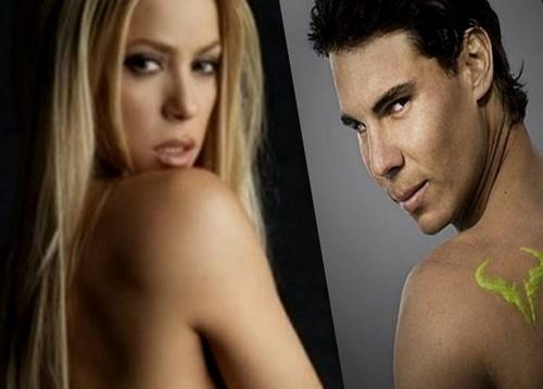 Shakira and Nadal sexy naked back