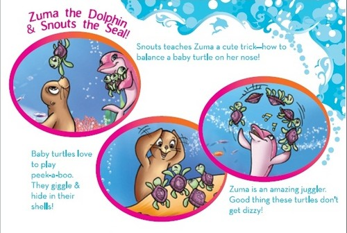 Snouts and Zuma's Sea Shell book