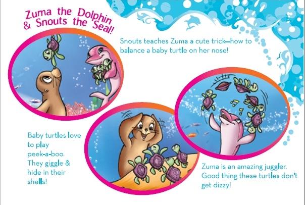 Snouts and Zuma's Sea Shell book