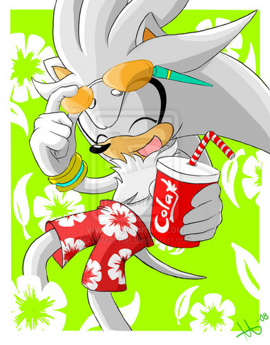 Silver the Hedgehog wallpaper possibly with anime titled Summer Silver