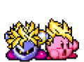 Super Saiyan Meta Knight and Kirby