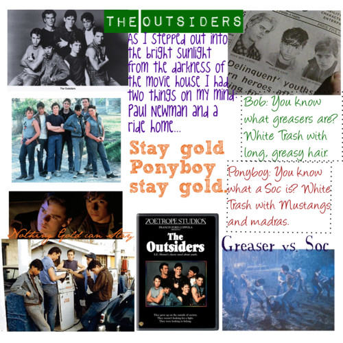 The Outsiders achtergrond probably with a newspaper and anime titled The Outsiders Collage