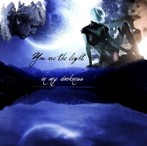 anda are the light, in my darkness