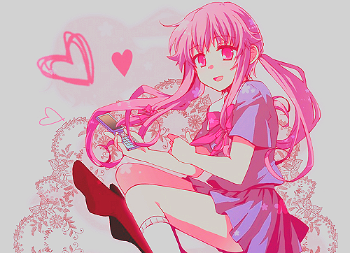mirai nikki wallpaper probably containing anime titled Yuno Gasai