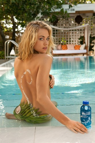 Yvonne Strahovski wallpaper containing a hot tub entitled Yvonne Strahovki ~ 2012 SoBe Lifewater Campaign