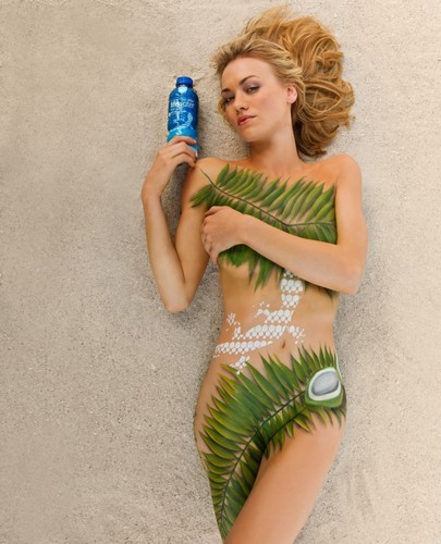 Yvonne Strahovski پیپر وال probably containing a bottled water titled Yvonne Strahovki ~ 2012 SoBe Lifewater Campaign