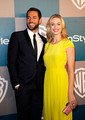 Yvonne Strahovski & Zachary Levi @ the 2012 Warner Bros/Instyle Golden Globes After Party - yvonne-strahovski photo