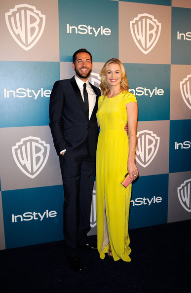 Yvonne Strahovski & Zachary Levi @ the 2012 Warner Bros/Instyle Golden Globes After Party