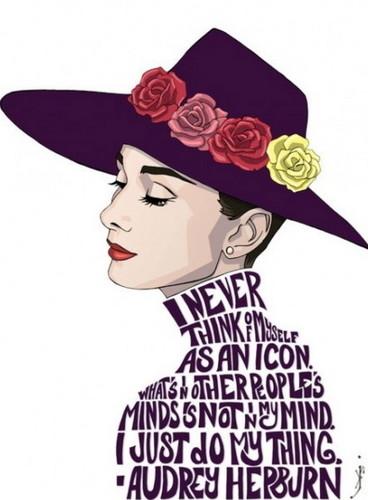 Audrey Hepburn wallpaper titled art