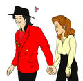 art - michael-jackson-and-lisa-marie fan art
