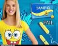 spongebob tampon fail