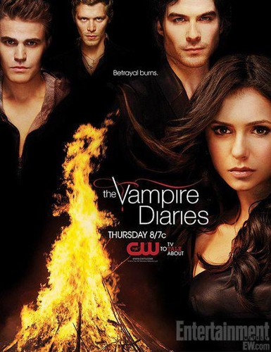 Stefan & Elena fondo de pantalla containing a portrait called the vampire diaries season 3 poster