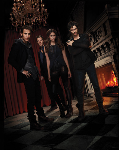 the vampire diaries season 3 poster - stefan-and-elena Photo