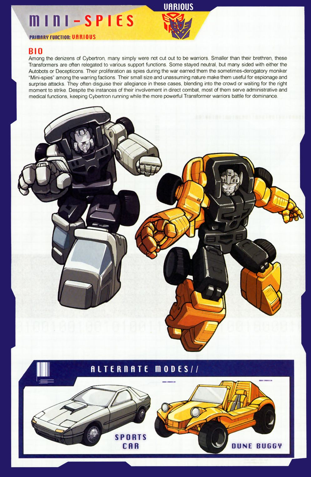 transformers personality test