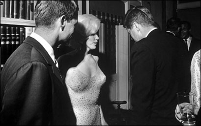 Marilyn Monroe ,Robert Kennedy, and John F. Kennedy
