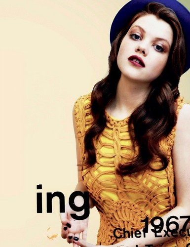 Georgie Henley wallpaper possibly with a portrait titled 1883 MAGAZINE