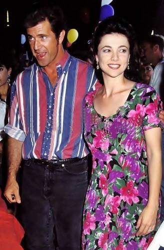 1990 Mel Gibson & Emma Samms during Starlite Foundation Carnival in Santa Monica,