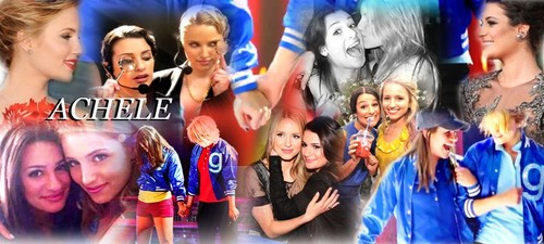 Lea Michele and Dianna Agron wallpaper called Achele collage