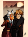 Ahsoka and Anakin - star-wars-clone-wars fan art