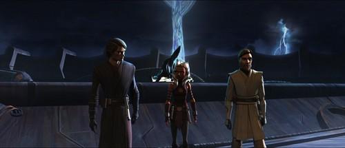 étoile, étoile, star Wars: Clone Wars fond d'écran called Anakin, Obi wan. Ahsoka