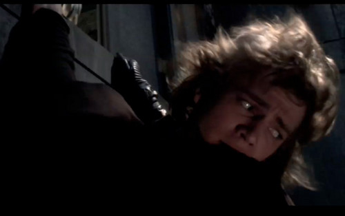 Anakin hanging in the elevator shaft (ROTS)