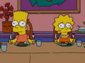 At dinner - bart-and-lisa-simpson photo