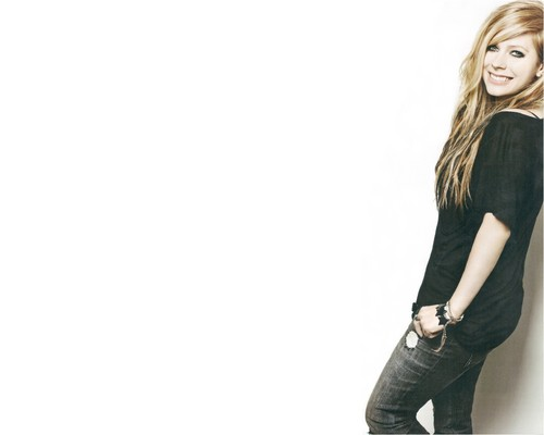 avril lavigne wallpaper possibly containing bellbottom trousers, a legging, and a hip boot entitled Avril Lavigne