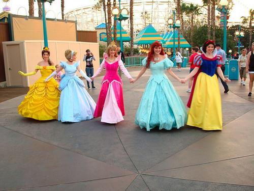 Bell, Cinderella, Aurora, Ariel & Snow white