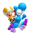 Blue Yoshi From NSMB (Wii)