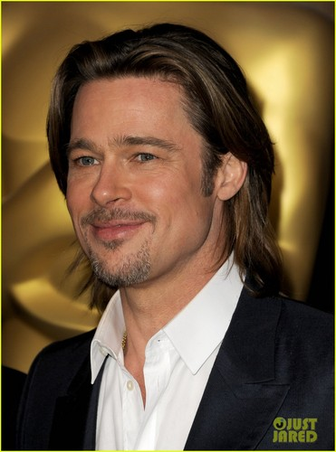 Brad Pitt wallpaper with a business suit entitled Brad Pitt: Academy Awards Nominations Luncheon