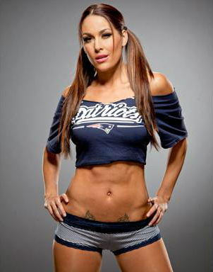 WWE Divas achtergrond probably with hot pants, hotpants, and attractiveness called Brie Bella