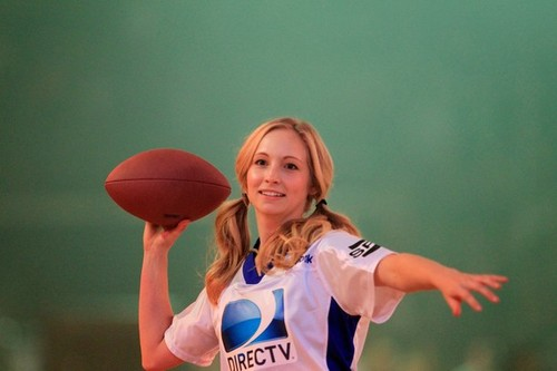 Candice at the 2012 Celebrity пляж, пляжный Bowl in Indianapolis. {04/02/12}