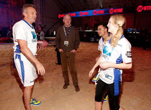 Candice at the Celebrity playa Bowl 2012 game in Indianapolis {04/01/12}