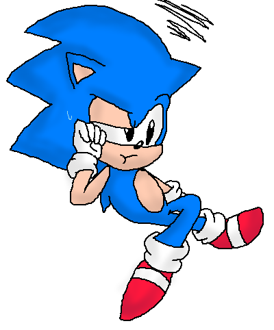 Classic Sonics Waiting Sonic El Erizo Fan Art 28889913 Fanpop