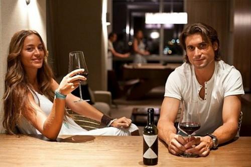 David Ferrer and girlfriend..