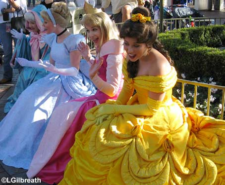 Disney Princess In Disney Land In Paris
