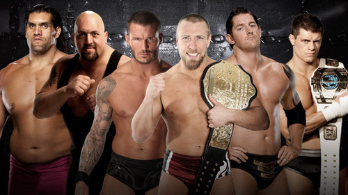 Elimination Chamber:Daniel Bryan vs Big 表示する vs Cody vs The Great Khali vs Wade Barrett vs Orton