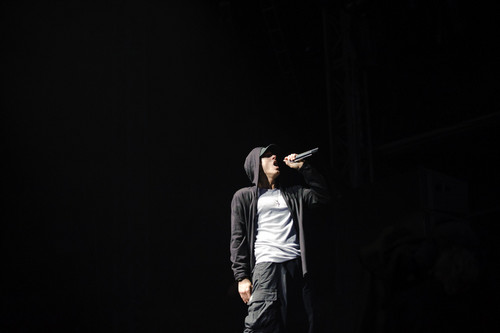 EMINEM wallpaper possibly containing a concert, a well dressed person, and a business suit titled Eminem